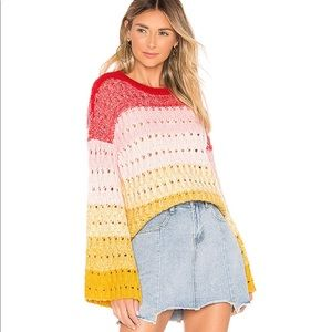 Tularosa Size Sm multi color bell sleeve sweater